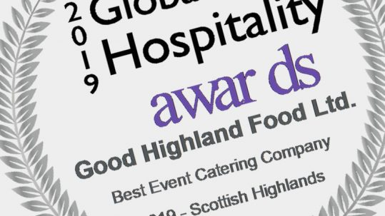 Good Highland Food Global Lux Awards winner logo 2019