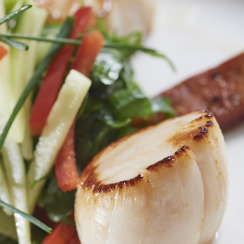 Good Highland Food Scottish scallops