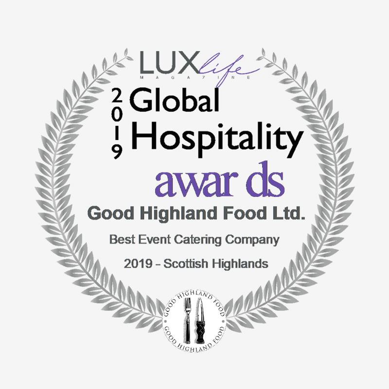Good Highland Food Global Lux Awards winner logo 2019