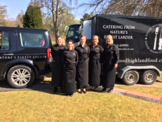 Good Highland Food catering team and vehicles