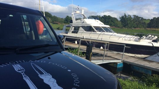 Good Highland Food catering Jacobite Princess Loch Ness